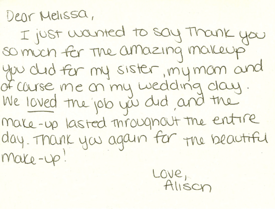 Allie - Thank You card