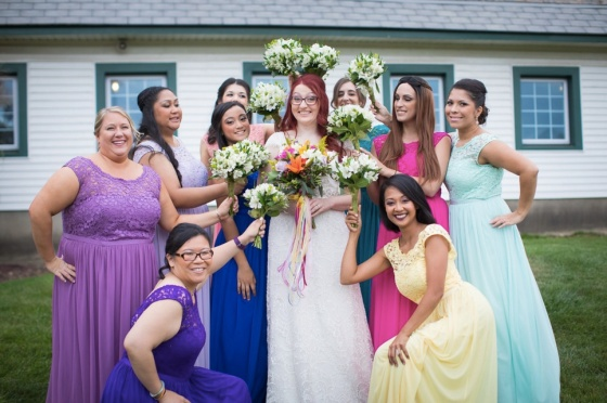 Melissa R bridal party 2